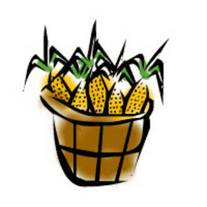 Free Clipart Picture of a Bushel of Corn.