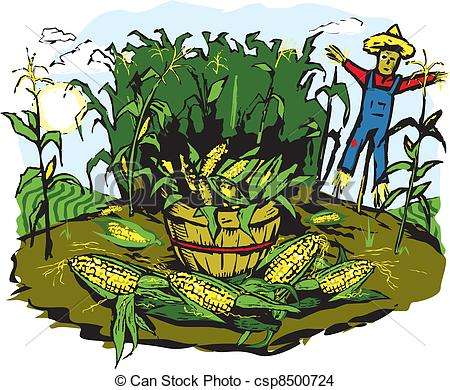 Corn Crops Clipart Corn Crop Harvest Csp8500724 #69ytCi.