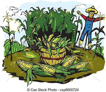 Corn Crops Clipart Corn Crop Harvest Csp8500724 #69ytCi.