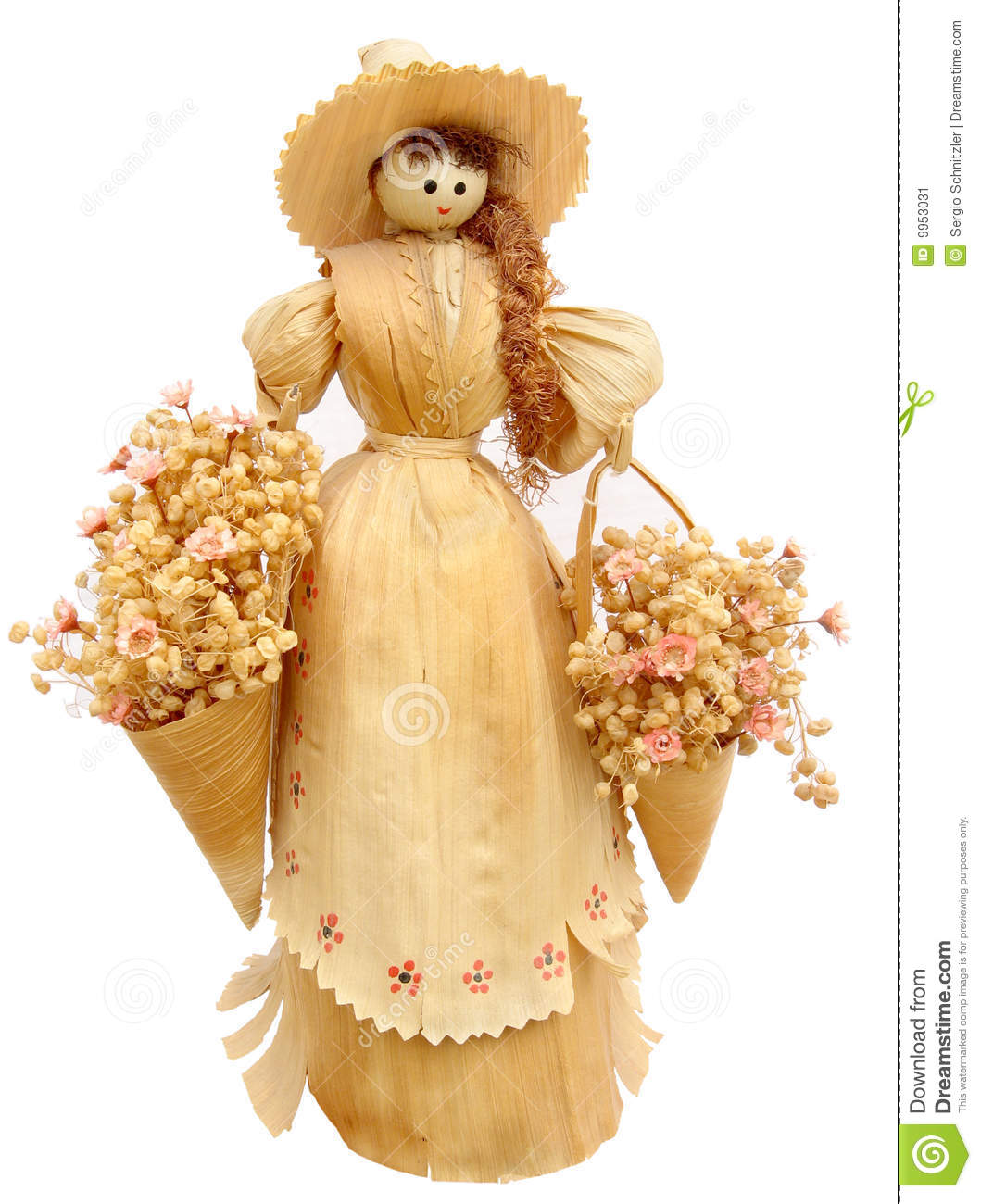 Corn Husk Doll Stock Image.
