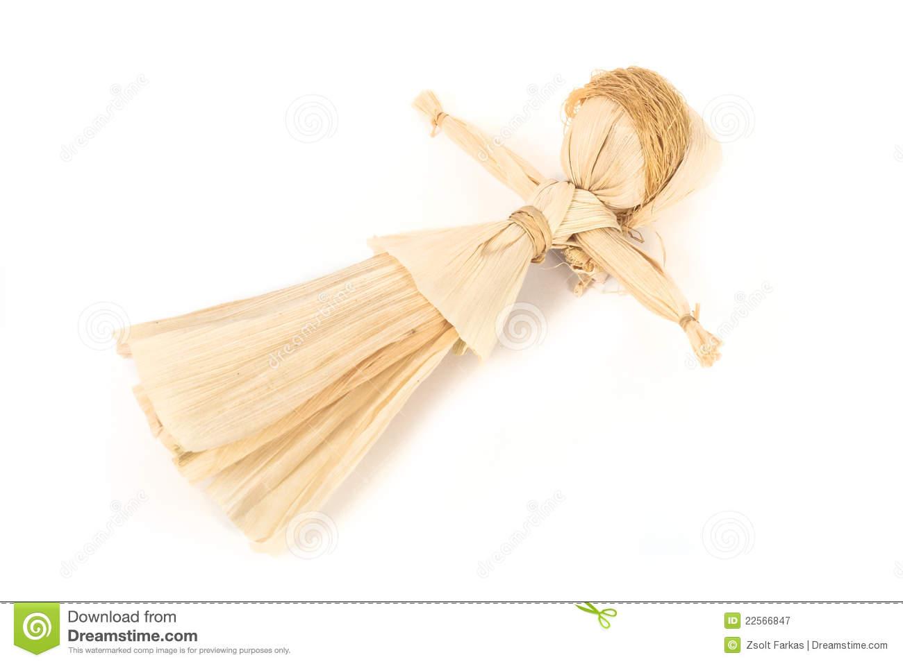 Corn Husk Doll Stock Photo.