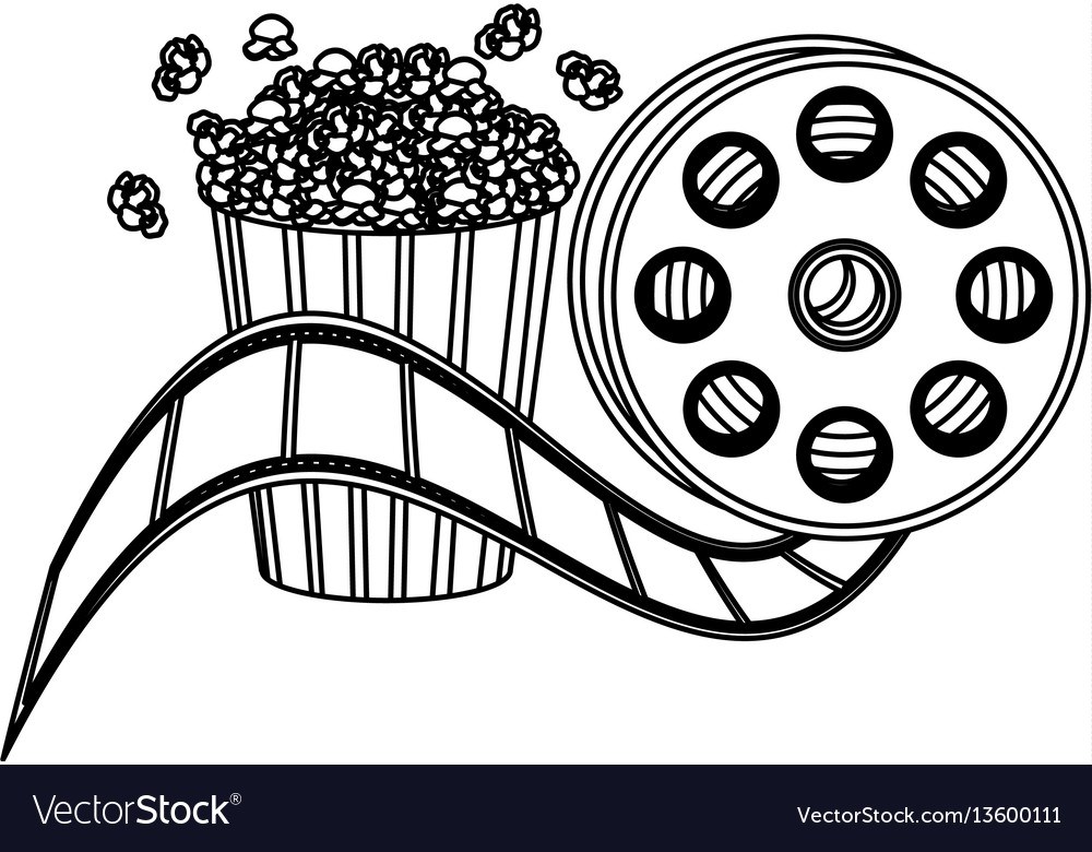 Pop corn and film production clipart icon.