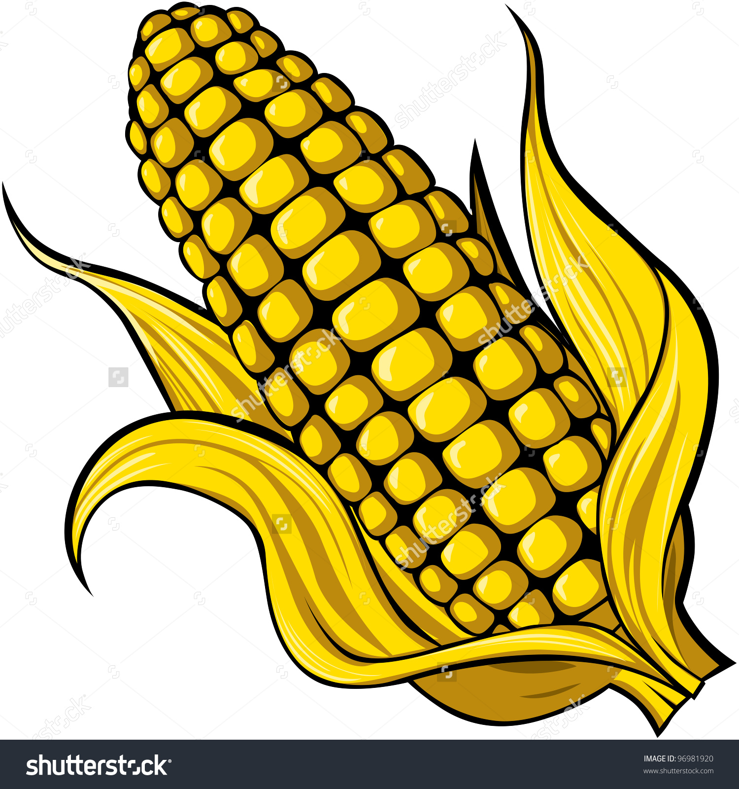 Corn Stock Vector 96981920.