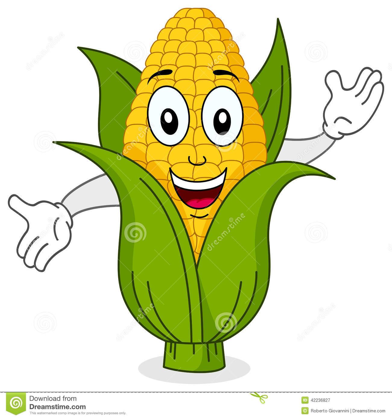 Funny Corn Clipart.