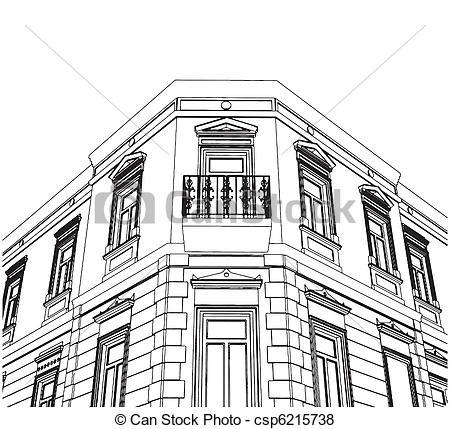 Vector of Building Corner Eclectic House Vector csp6215738.