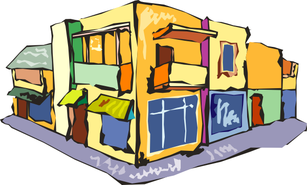 Shopping Building Clipart.