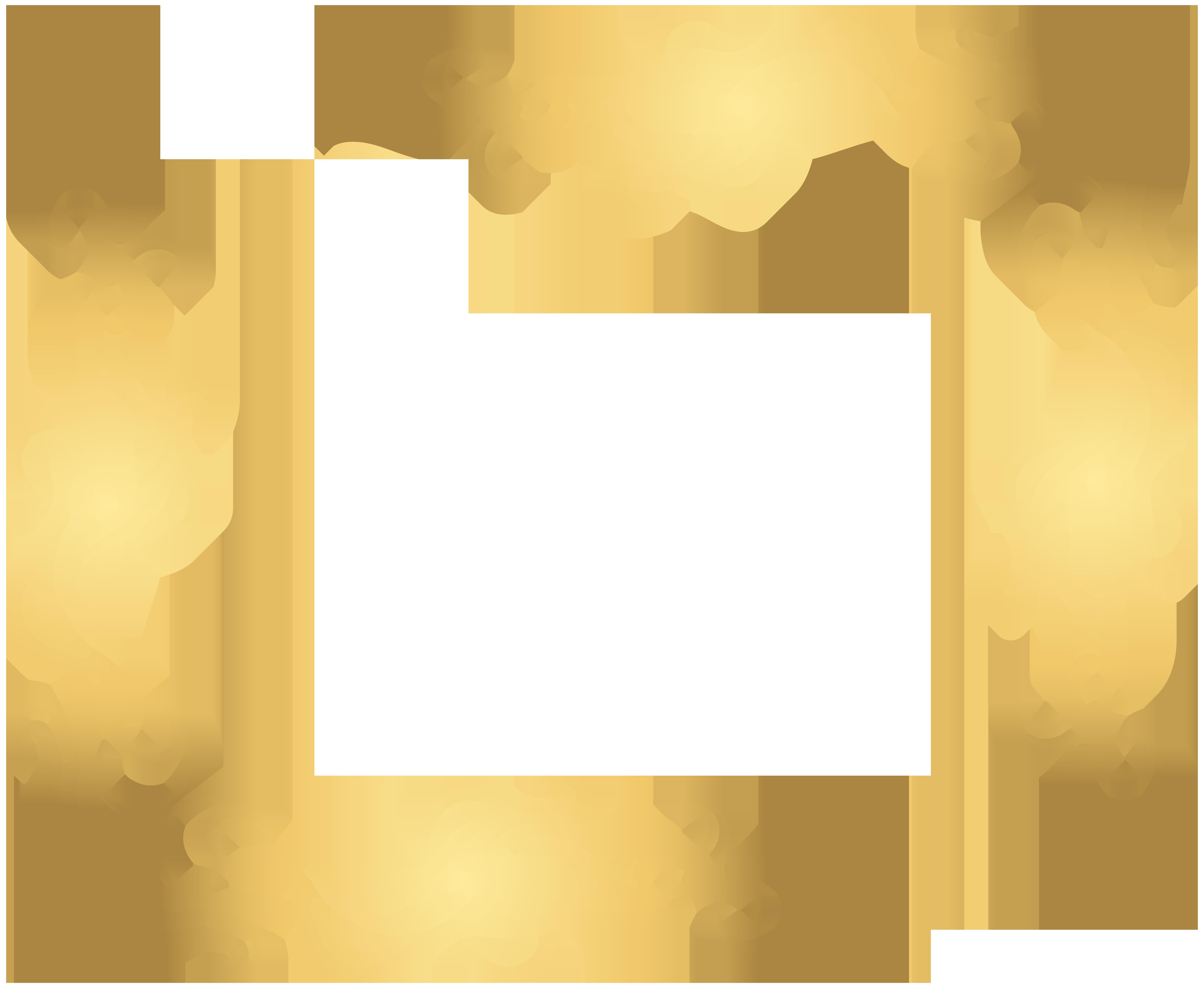 Gold Corner Decoration Transparent PNG Clip Art.