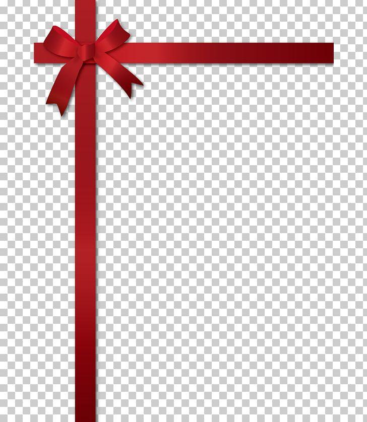 Ribbon Corner Frame. PNG, Clipart, Christmas Day, Color, Gift, Line.