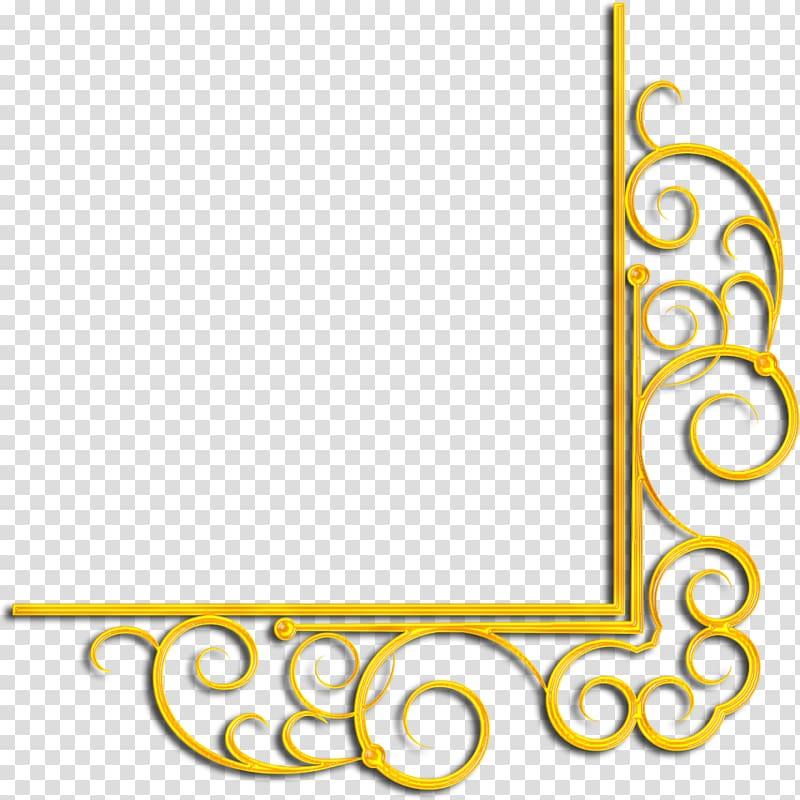 Gold Raster graphics Rectangle , gold corner transparent.