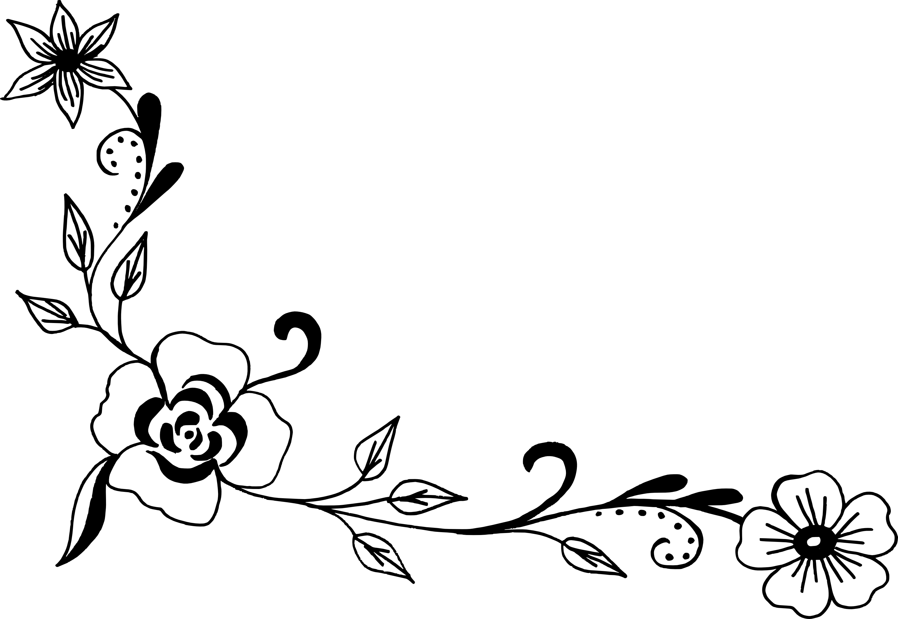 18 Flower Corner Vector (PNG Transparent, SVG).
