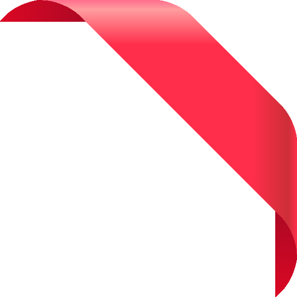 Red Corner Ribbon Png Vector, Clipart, PSD.