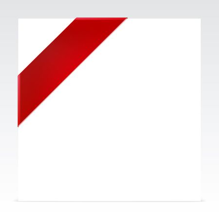 Red Corner Ribbon With Place For Your Text Royalty Free Cliparts.