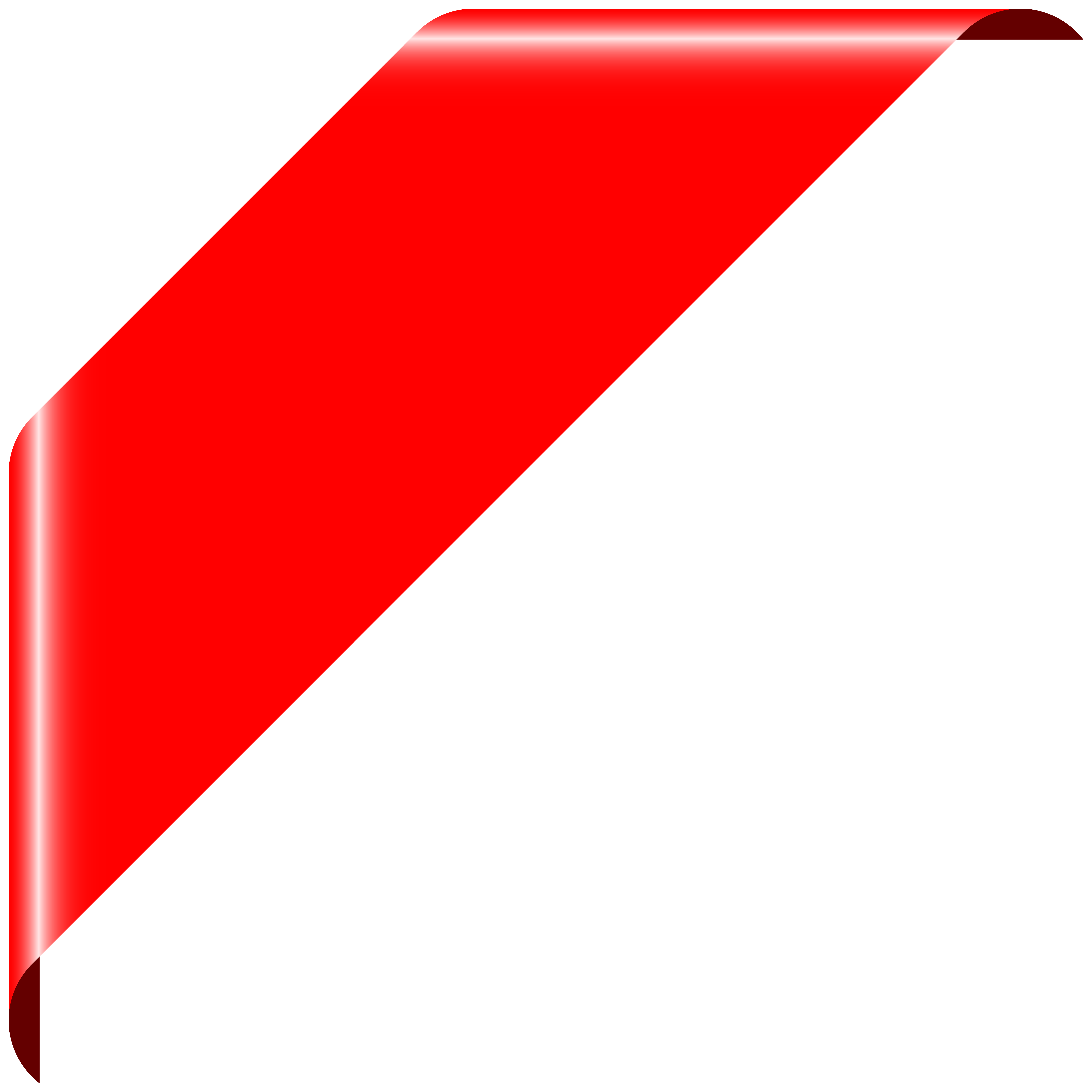 Red Corner Banner PNG Clipart.