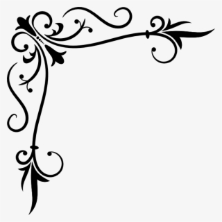 Free Corner Scroll Clip Art with No Background.