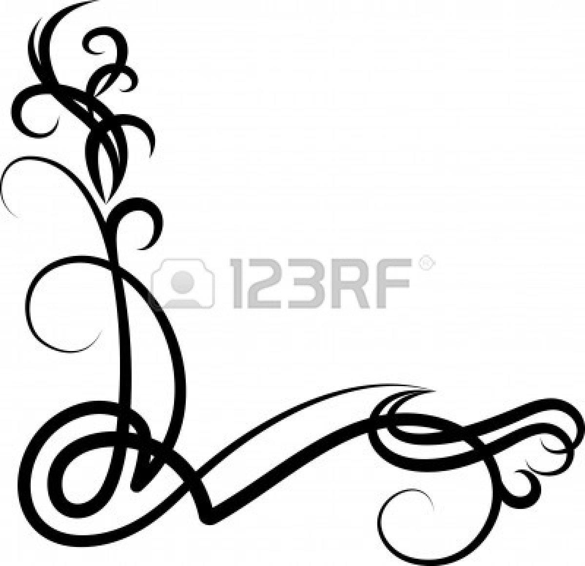 Corner scrollwork clipart 4 » Clipart Station.