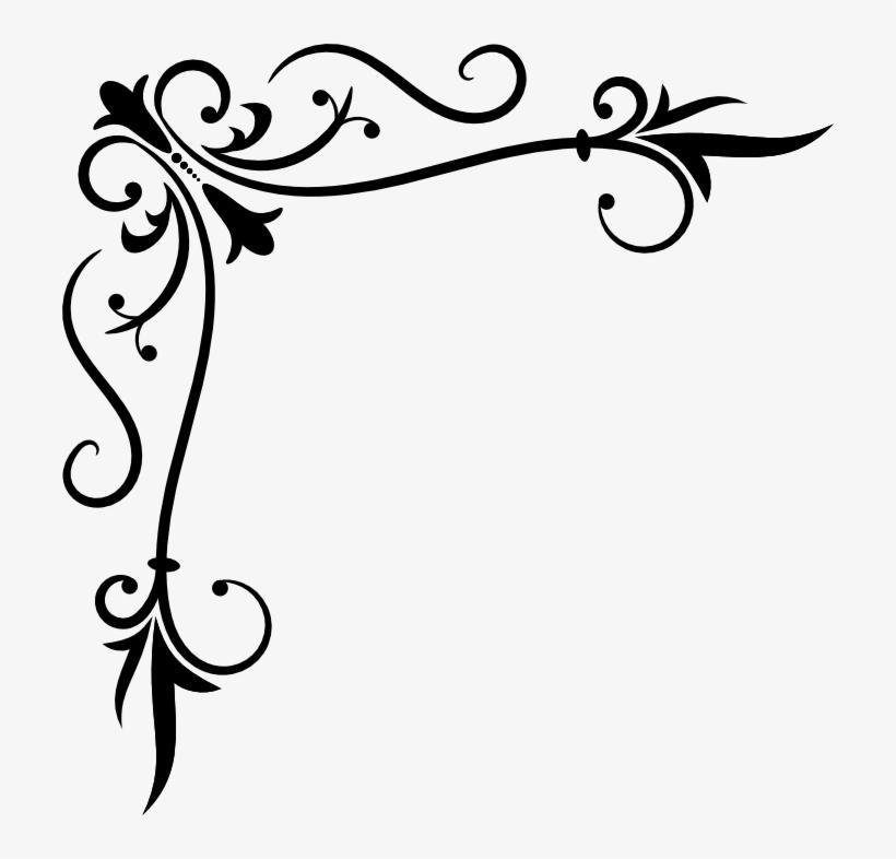 Corner Scroll Clip Art Png.