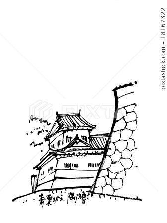 aoba castle, corner tower, sumiyagura.