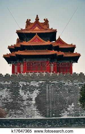 Stock Image of Imperial Palace Corner Tower k17647365.