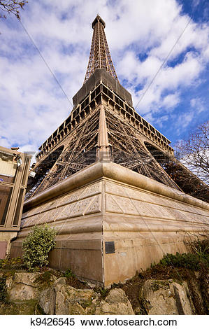 Stock Image of Eiffel Tower corner k9426545.