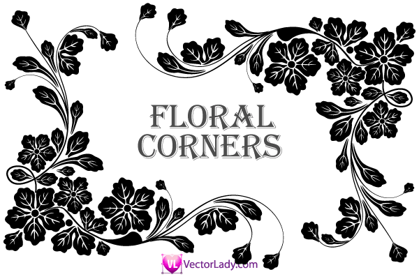 Vector clip art corners.