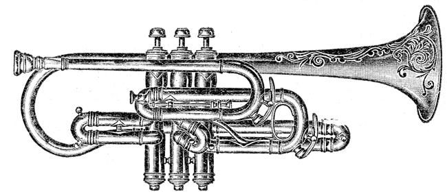 cornet clip art pictures Archives.