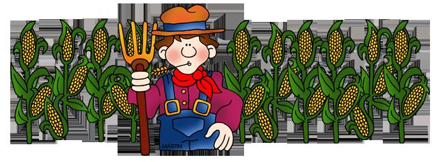 Maize fields clipart #7