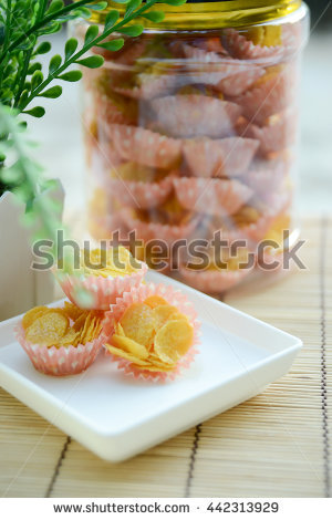 Cornflake Cakes Stock Photos, Royalty.