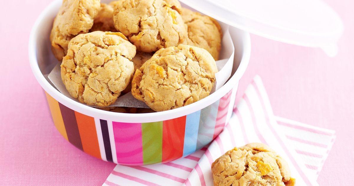 Cornflake and honey cookies.