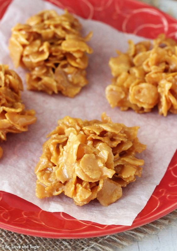 Soft and Chewy Caramel Clusters.