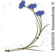 Cornflower Clip Art EPS Images. 1,118 cornflower clipart vector.