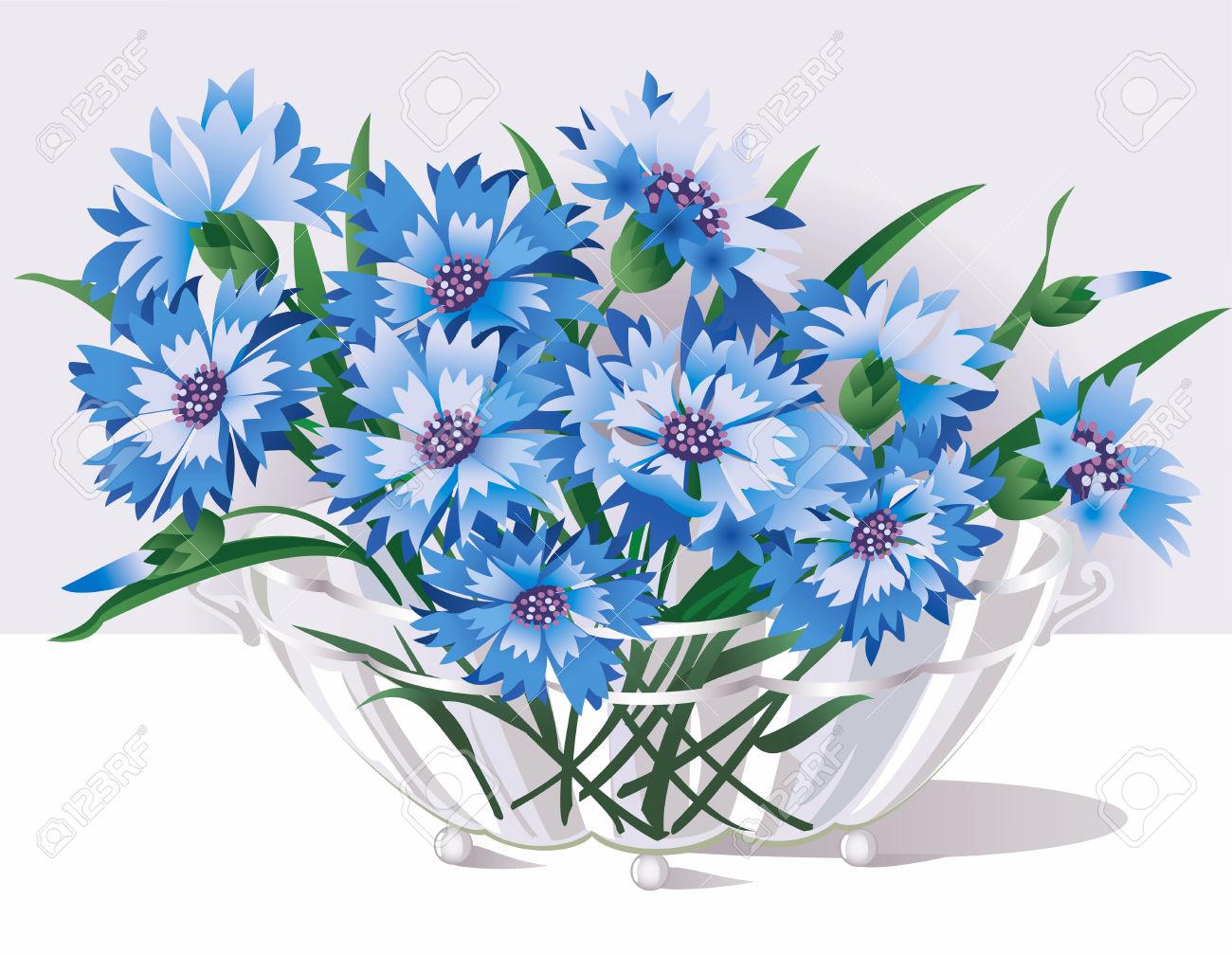Cornflower Blue Flower Clip Art.