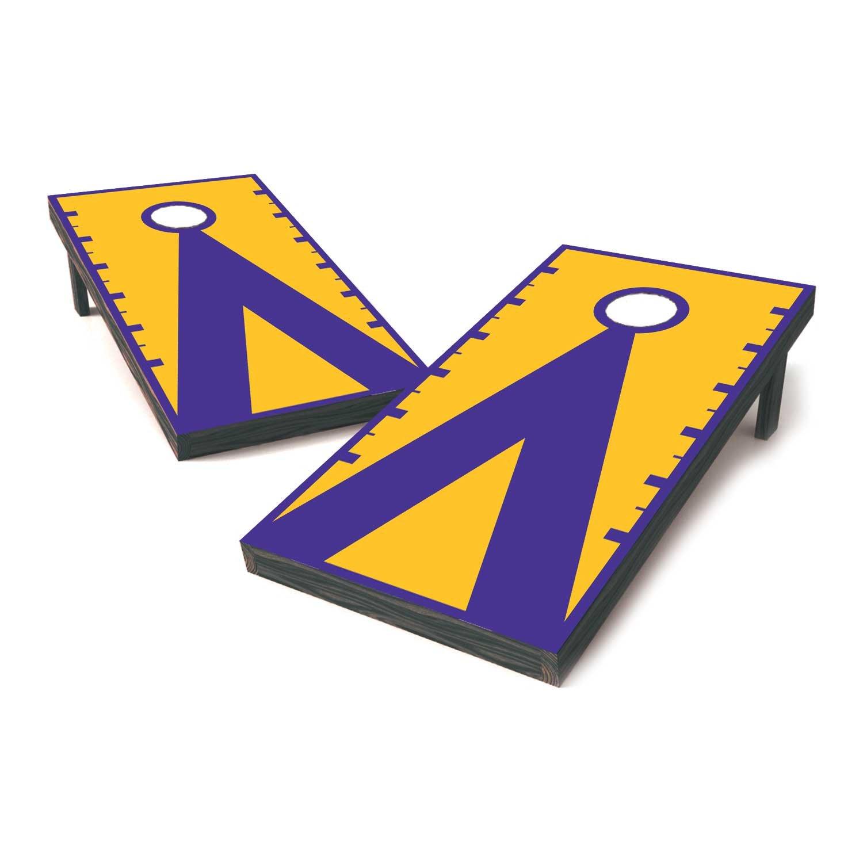 Vinyl Revolution LSU Two Tone College Football Cornhole Sticker  Covers/Cornhole Board Decals/Cornhole Board Stickers/Bag Toss  Stickers/Dummy Board.