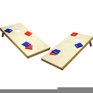 Clipart Of Cornhole Game.