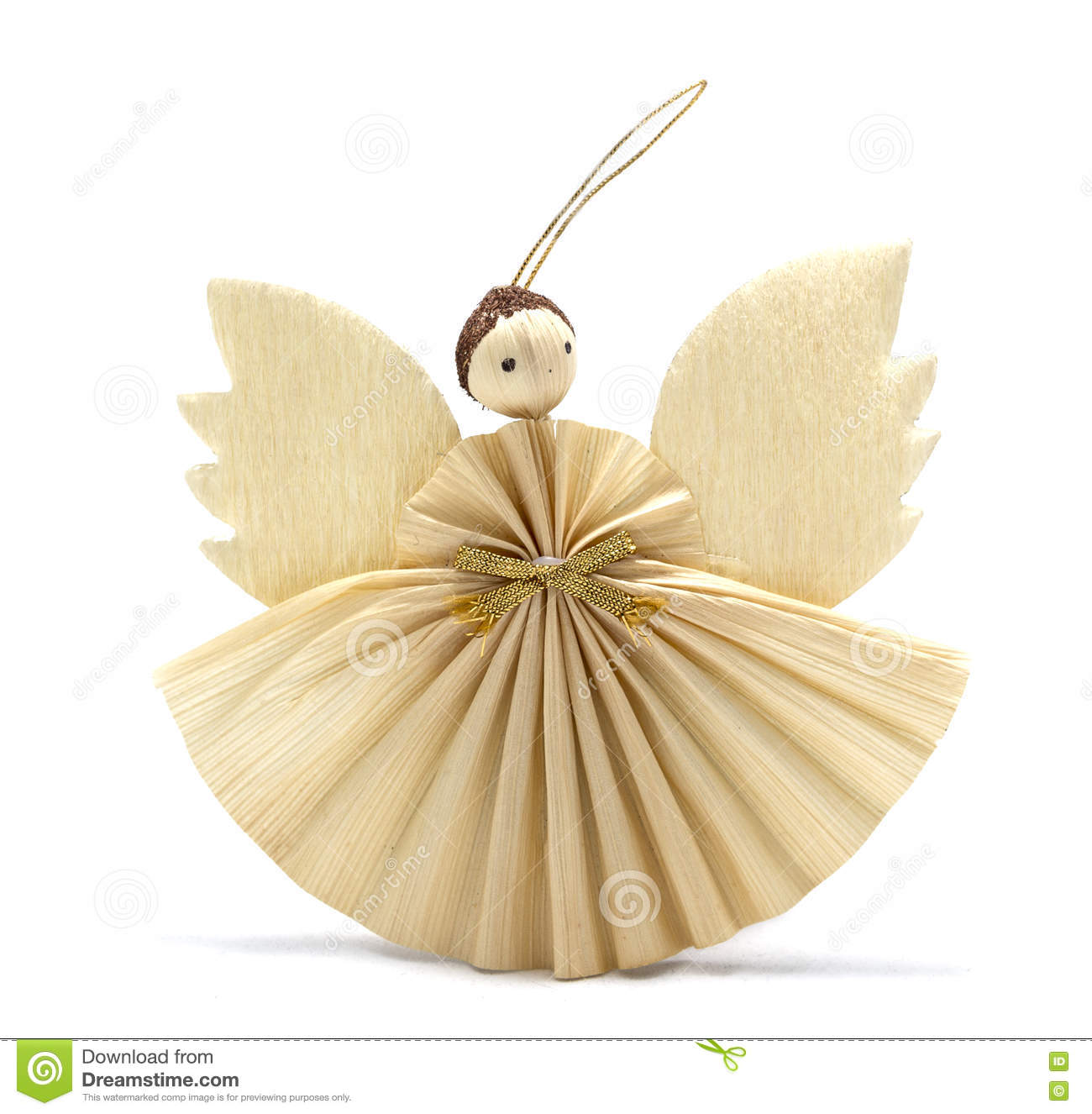 Corn Husk Angel Stock Photo.
