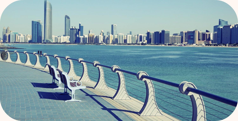 Stopover in Abu Dhabi.