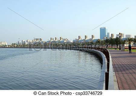 Stock Photo of Sharjah Corniche.