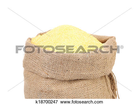 Picture of Canvas bag with cornmeal. k18700247.