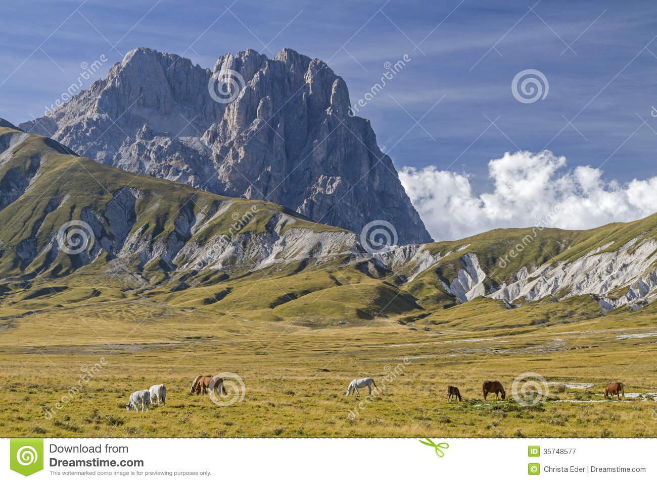 Corno Grande In Abruzzo Royalty Free Stock Photography.