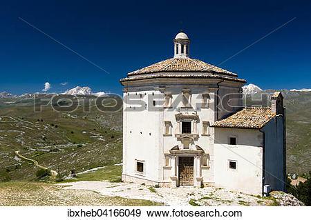 Stock Photograph of Santa Maria della Pieta, Calascio, Corno.
