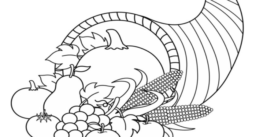 Stunning 20 Images Cornucopia Coloring Pages.