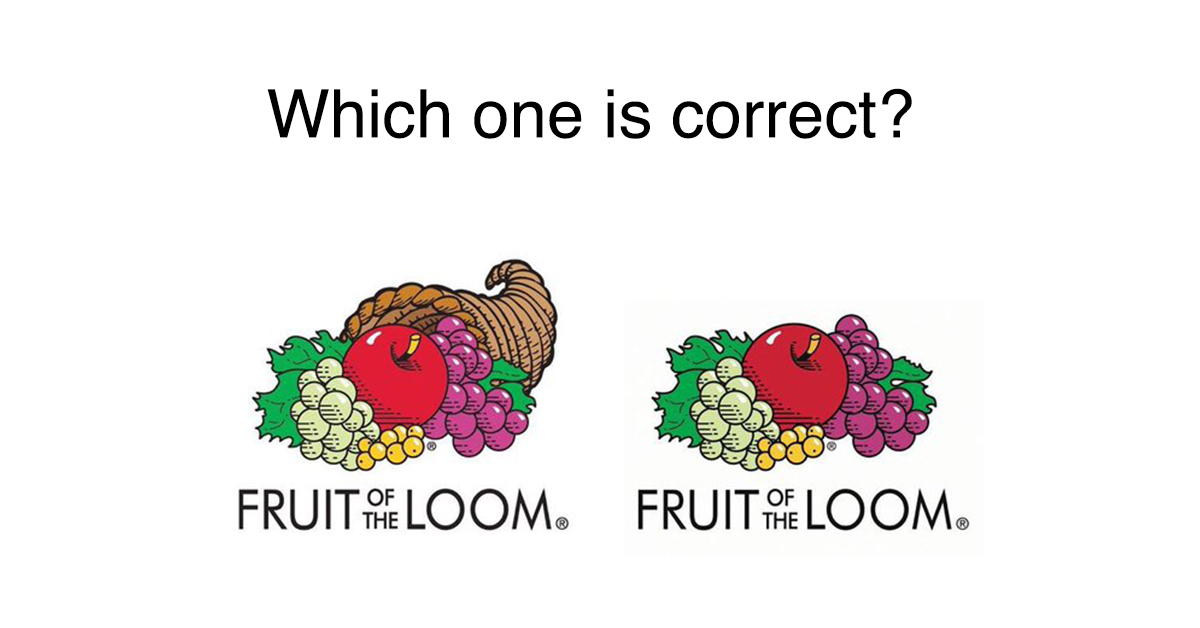 Man points out \'Fruit of the Loom\' logo has never had a.