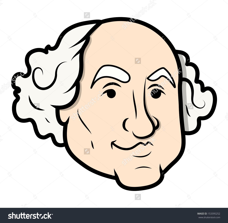 George Washington Vector Cartoon Clipart Vector Stock Vector.