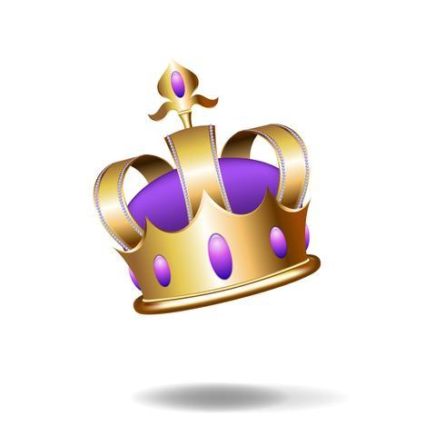 Ilustração realista da coroa de ouro.