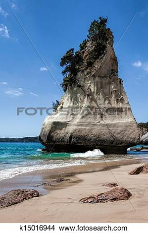 Stock Photo of Cathedral Cove Coromandel Peninsula k15016944.