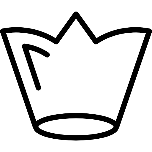 White royal crown outline Icons.