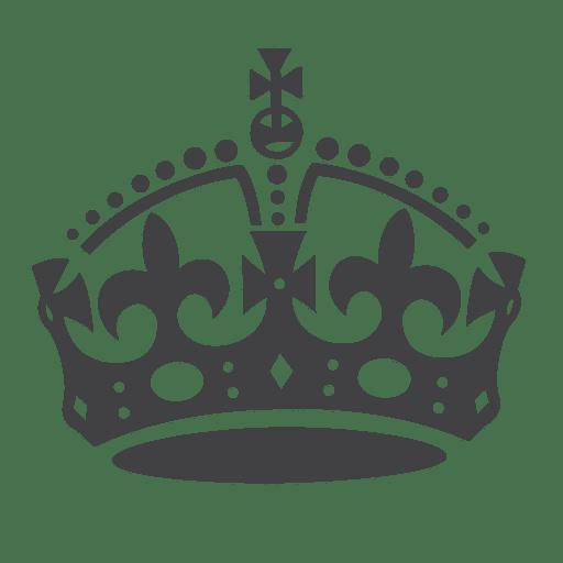 Britain crown silhouette.