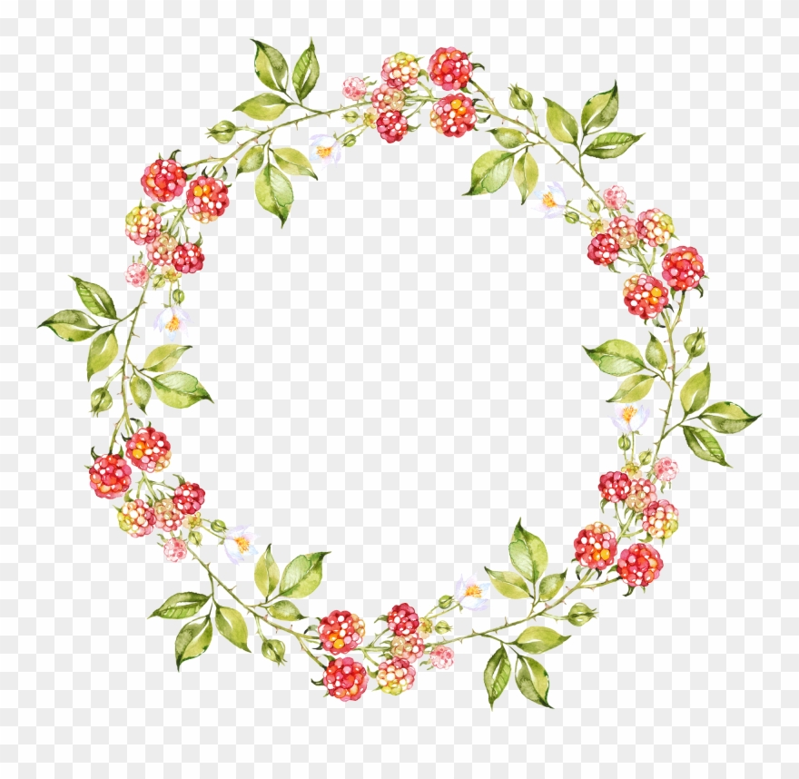 Oval Clipart Floral Wreath.