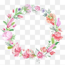 Corona de flores de color.