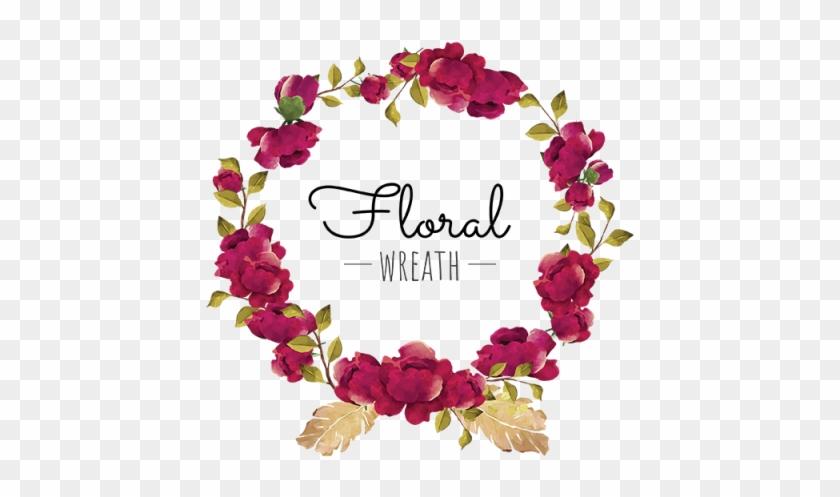 Flower, Wreath, Red, Burgundy, Blooming, Beautiful,.