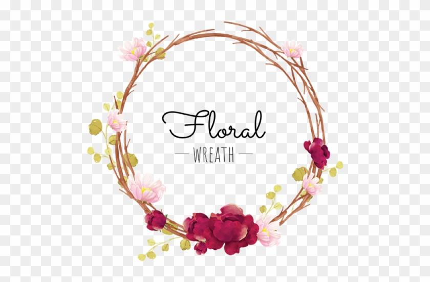 Download Free png Corona De Flores Gratis Png Y Vector Pink Flower.